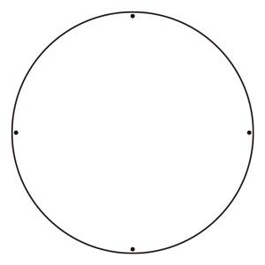 ST用丸表示板 887−700A 白無地
