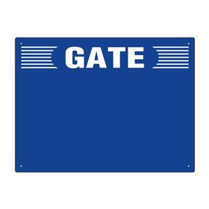 ゲート表示板 305−304 GATE 数字なし ヨコ