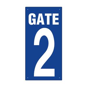 ゲート表示板 305−31A GATE 2 タテ