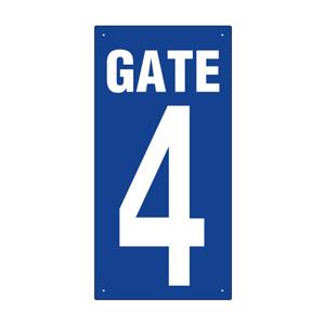 ゲート表示板 305−33A GATE 4 タテ