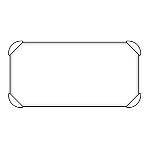 避難誘導標識 反射補助板 824−78A 平リブ付