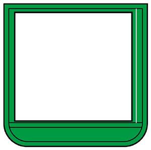 ポケット胸章 368−141 ワニ口タイプ 緑