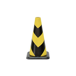 セフティラバーコーン 385−12A 450H 黄色反射