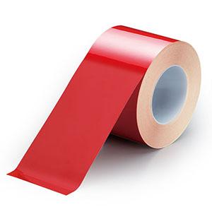 ユニフィットテープ 863−657 赤 100mm幅×20m
