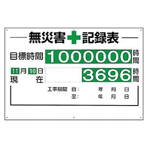 無災害記録表 315−01A 板・数字板セット