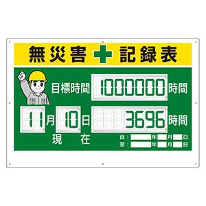 デジタル数字型無災害記録表 315−18A 数字板固定式