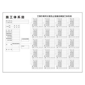 施工体系図 317−73A 屋内用 マーカー・消し具付