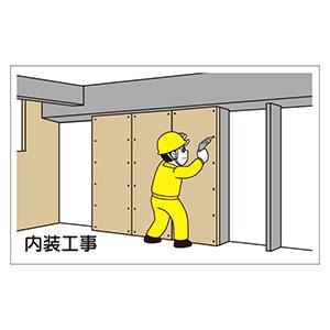 作業予定マグネット板 301−001 内装工事