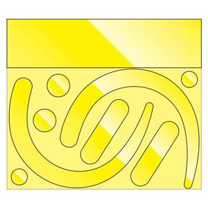 フックステッカー 335−32Y 蛍光反射 黄