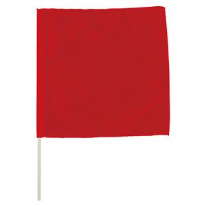 手旗 372−20A 赤 面ファスナー付