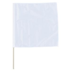 手旗 372−21A 白 面ファスナー付