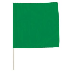手旗 372−22A 緑 面ファスナー付