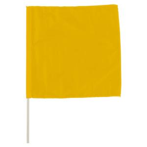 手旗 372−23A 黄 面ファスナー付