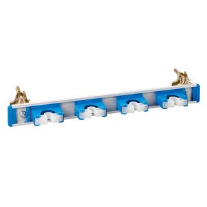 ほうきキャッチャー 4本用 単管クランプ付 375−001