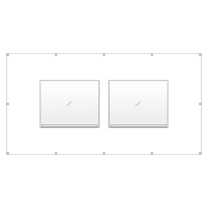 フェンスポケット 383−751 エコユニボード標識2枚用 400×500