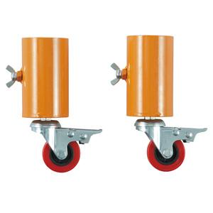 単管バリケード型 キャスターアダプター ストッパー付き 386−070