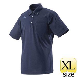 熱中対策 ミズノワークポロシャツ半袖 ネイビー HO−626NB−XL