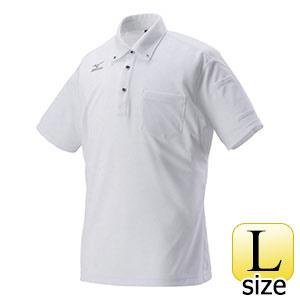 熱中対策 ミズノワークポロシャツ半袖 ホワイト HO−626WH−L