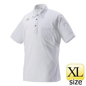 熱中対策 ミズノワークポロシャツ半袖 ホワイト HO−626WH−XL