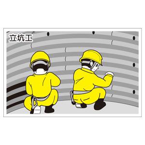 作業予定マグネット板 301−71 立坑工