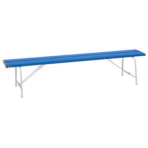 ベンチ 376−80 背なし1800 青色