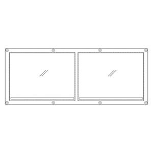 フェンスポケット 383−77 A3用紙2枚用
