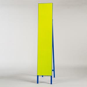 高輝度スリム反射看板 蛍光黄 396−10 無地