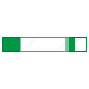 安全ピンいらずの特殊機能腕章 差し込み式ワンタッチ腕章 848−63 緑
