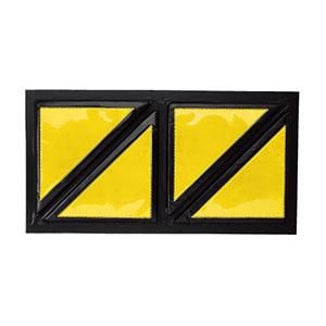 スクエア反射クッション 866−42 黄/黒