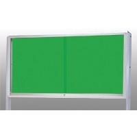屋外用アルミ製掲示板 (脚付タイプ) KU−218T