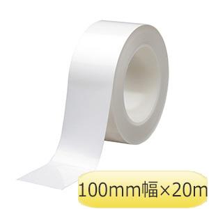 ラインテープ ベルデビバハードテープ(屋内推奨) 白 100mm幅×20m