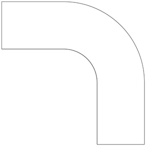 ベルデビバコーナーテープ(屋内推奨) 10枚 (2枚×5シート) 白