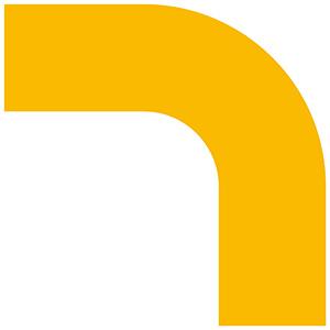 ベルデビバコーナーテープ(屋内推奨) 10枚 (2枚×5シート) 黄