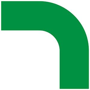 ベルデビバコーナーテープ(屋内推奨) 10枚 (2枚×5シート) 緑