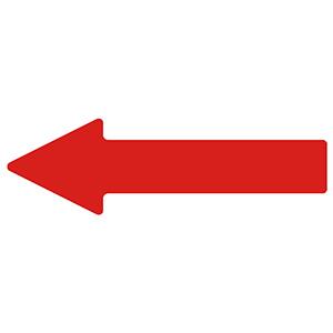 ベルデビバ矢印テープ(屋内推奨) 10枚 (1枚×10シート) 赤