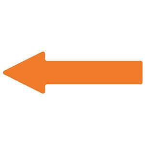 ベルデビバ矢印テープ(屋内推奨) 10枚 (1枚×10シート) オレンジ