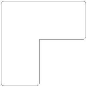 ベルデビバ位置決めテープ(屋内推奨) 20枚 (2枚×10シート) 白