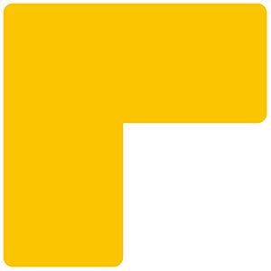 ベルデビバ位置決めテープ(屋内推奨) 20枚 (2枚×10シート) 黄