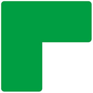 ベルデビバ位置決めテープ(屋内推奨) 20枚 (2枚×10シート) 緑
