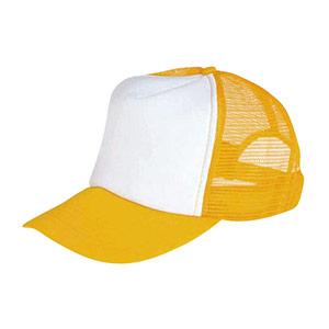 防犯用帽子 黄色