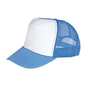 防犯用帽子 水色