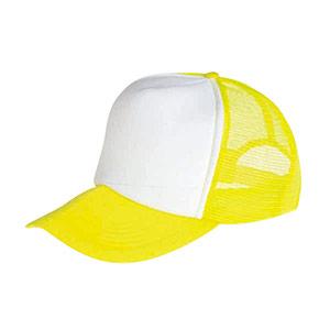 防犯用帽子 蛍光黄色