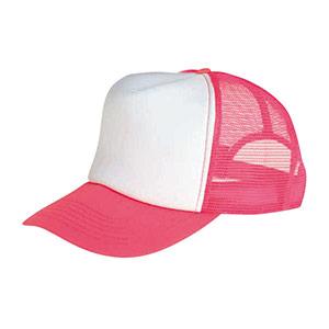 防犯用帽子 蛍光ピンク