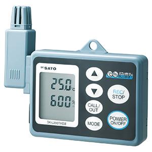温度計 SK−L200TH�Uアルファ (温湿度タイプ) 一体型センサ付