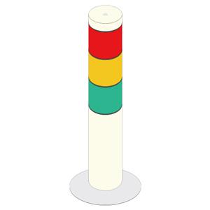 WBGT−213B(N)用 シグナルタワー 積層信号灯 64−00631