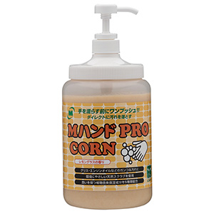 Mハンドクリーナー PRO/CORN ポンプ付ボトル 1.4kg