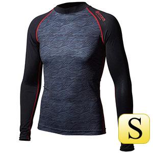 ロングスリーブ クルーネックシャツ JW−540 カモフラ×レッド S
