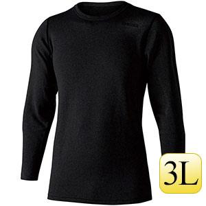 ヘビーウェイト クルーネックシャツ JW−180  ブラック 3L