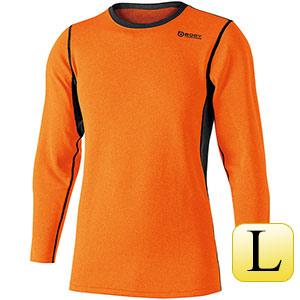 ヘビーウェイト クルーネックシャツ JW−180  オレンジ×ブラック L