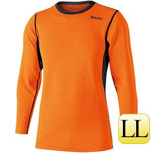 ヘビーウェイト クルーネックシャツ JW−180  オレンジ×ブラックLL